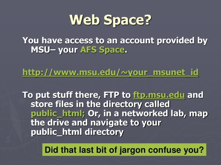 Web space