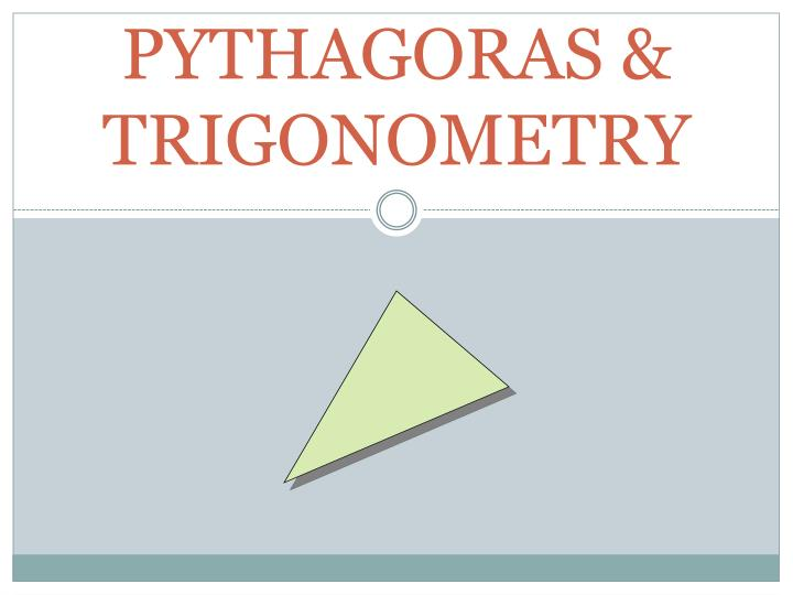 Pythagoras trigonometry