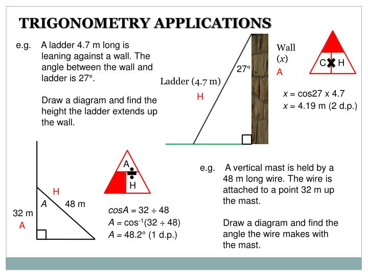 TRIGONOMETRY APPLICATIONS