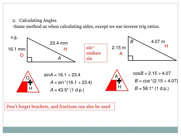 2.   Calculating Angles