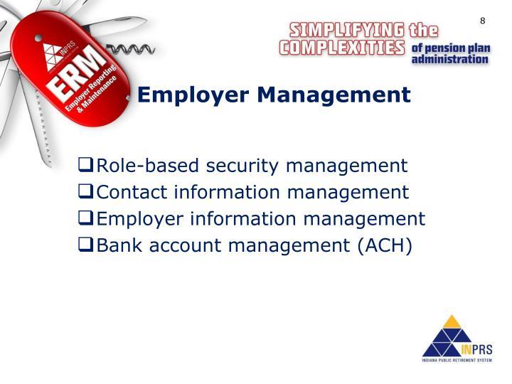 Employer Management
