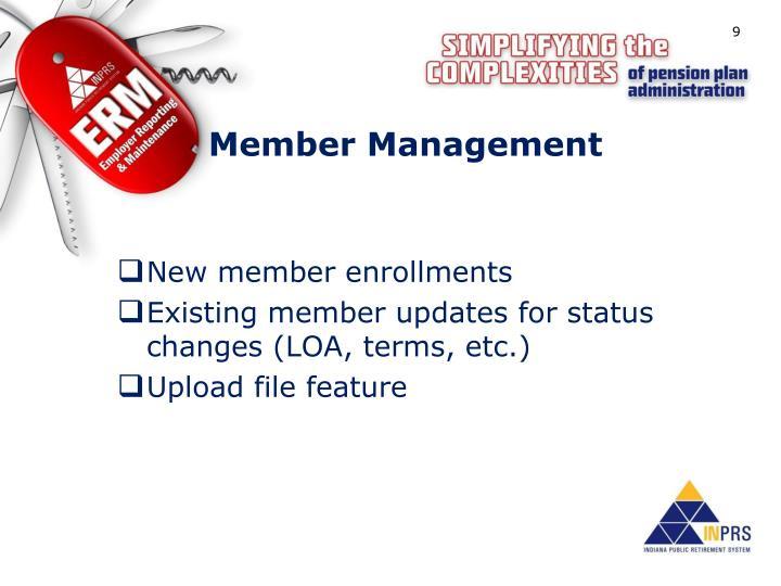 Member Management