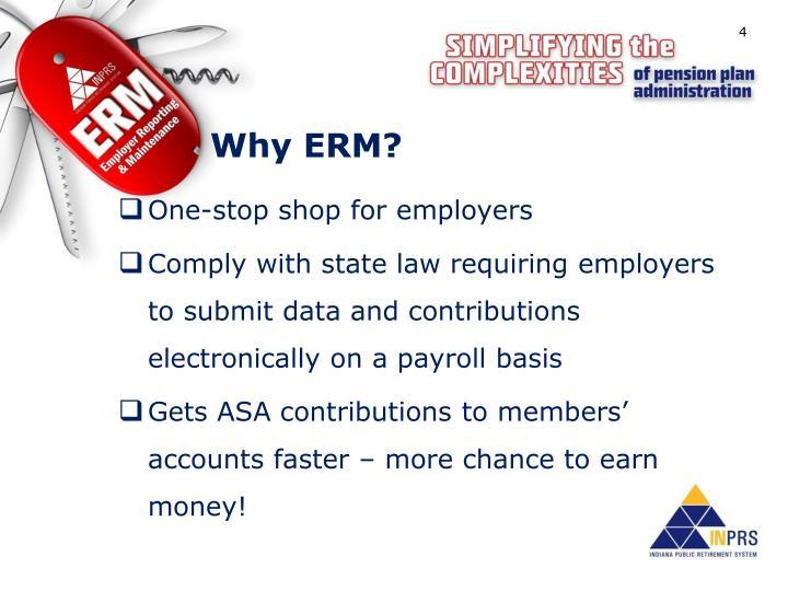 Why ERM?