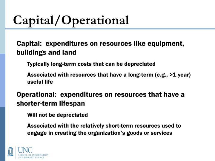 Capital/Operational