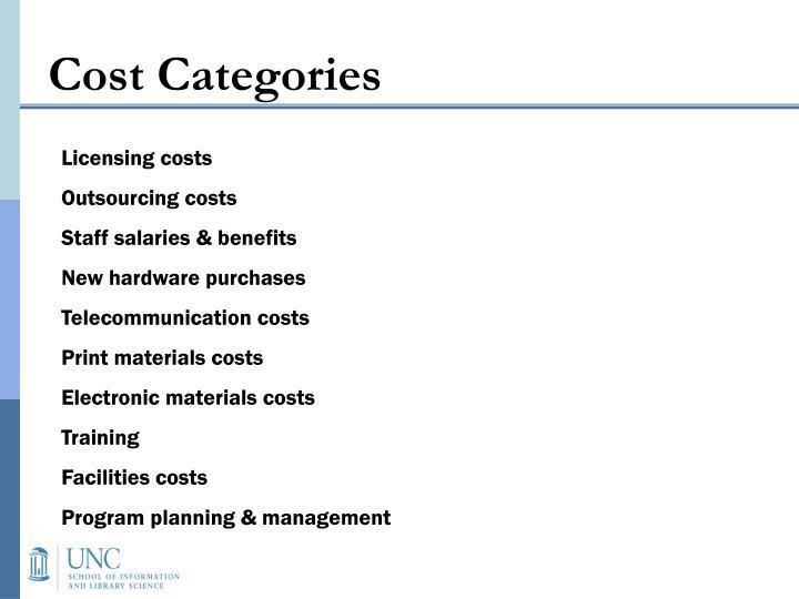 Cost Categories