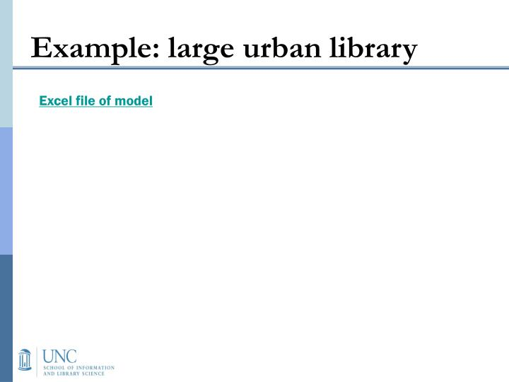Example: large urban library