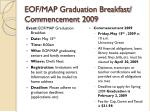 eof map graduation breakfast commencement 2009