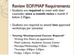 review eof map requirements