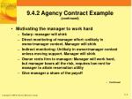 9 4 2 agency contract example continued