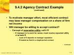 9 4 2 agency contract example continued2