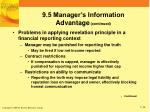 9 5 manager s information advantage continued2