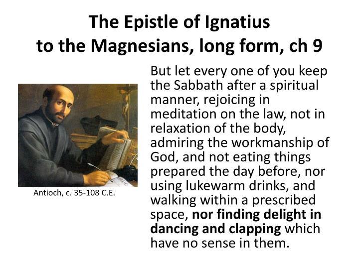 The Epistle of Ignatius