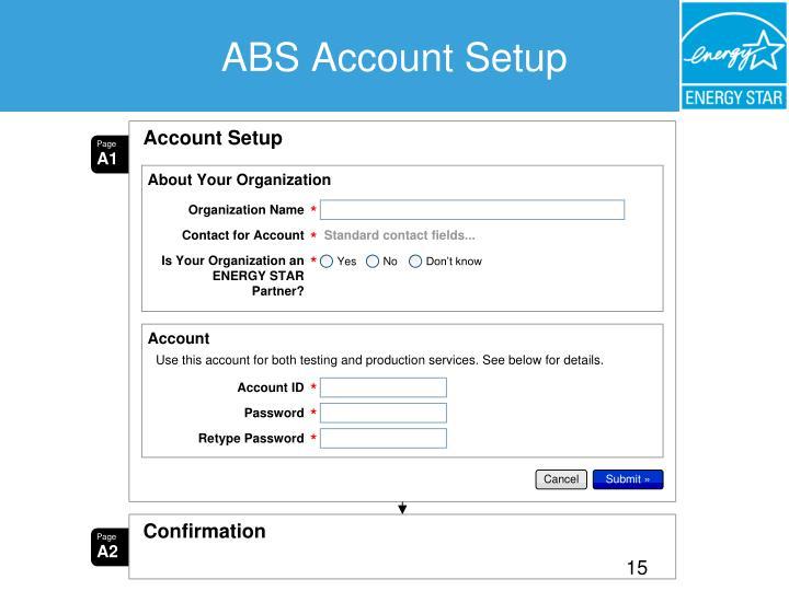 ABS Account Setup