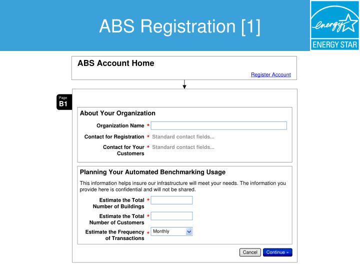 ABS Registration [1]