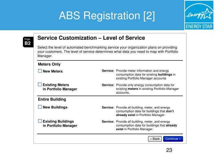 ABS Registration [2]
