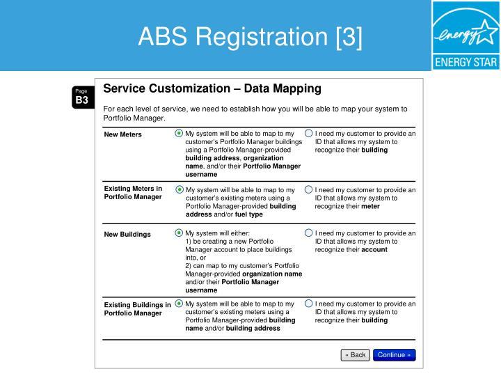ABS Registration [3]