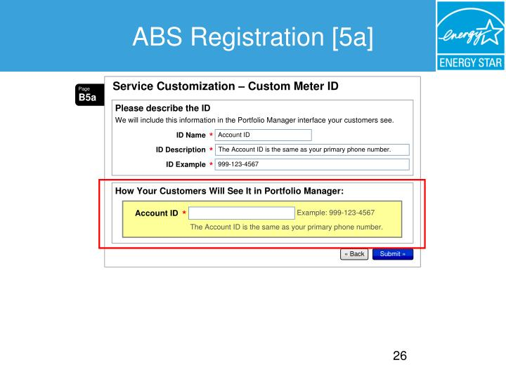 ABS Registration [5a]
