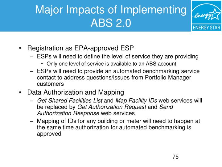 Major Impacts of Implementing