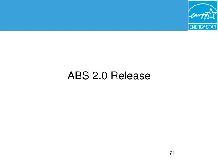 ABS 2.0 Release