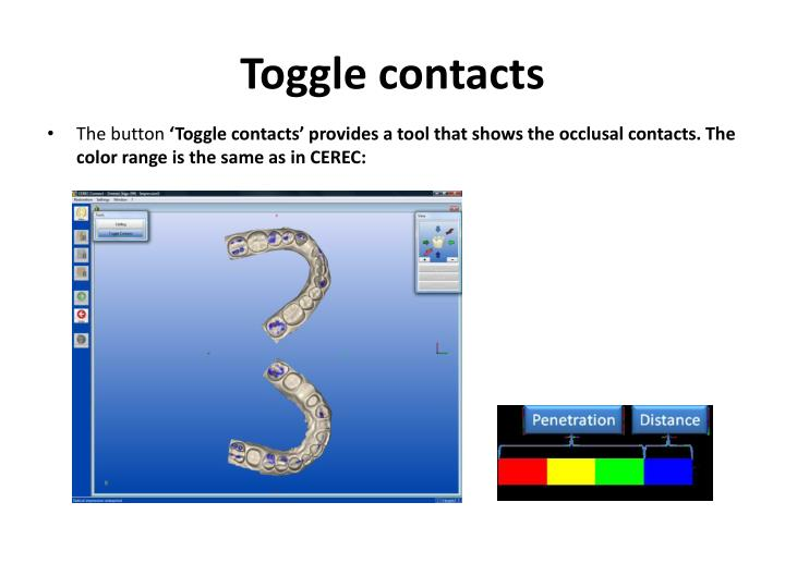 Toggle contacts