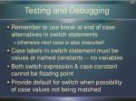 testing and debugging1