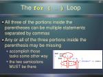 the for loop1