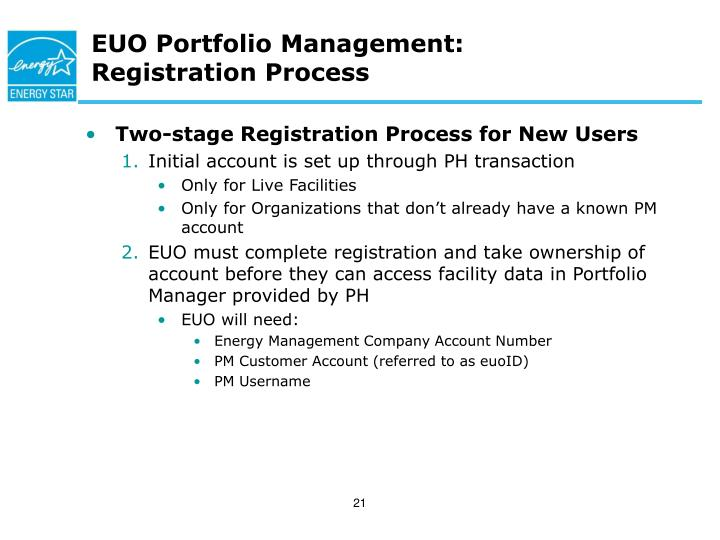 EUO Portfolio Management: