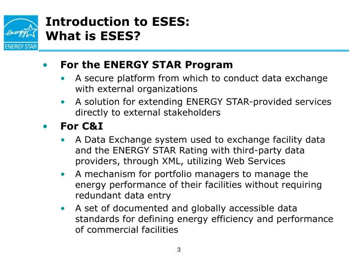 Introduction to eses what is eses