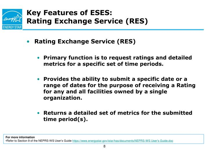 Key Features of ESES: