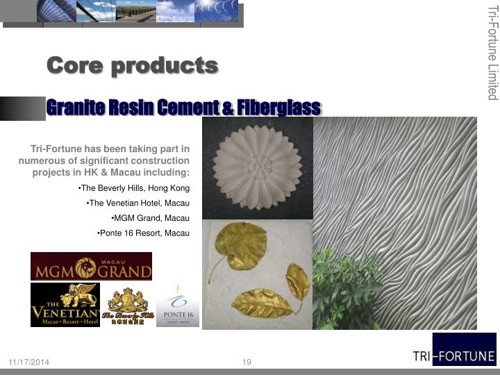 Tri-Fortune has been taking part in numerous of significant construction projects in HK & Macau including: