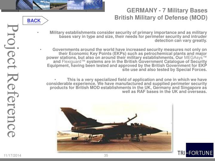 GERMANY - 7 Military Bases