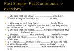 past simple past continuous exercises