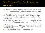 past simple past continuous exercises1