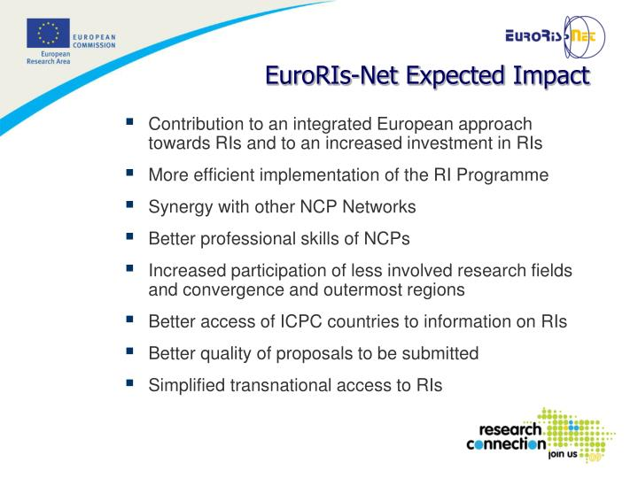 Contribution to an integrated European approach towards RIs and to an increased investment in RI