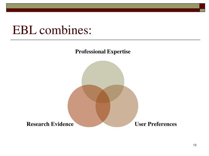 EBL combines: