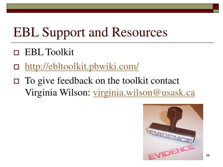 EBL Support and Resources