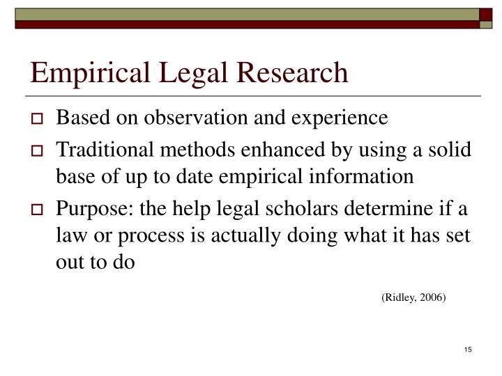 Empirical Legal Research
