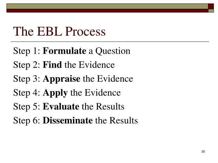 The EBL Process