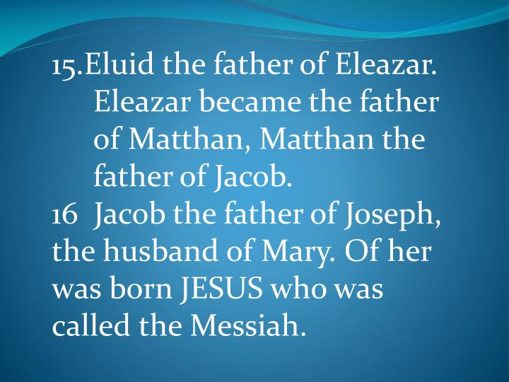15.Eluid the father of