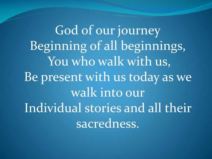 God of our journey