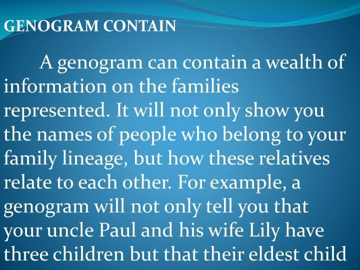 GENOGRAM CONTAIN