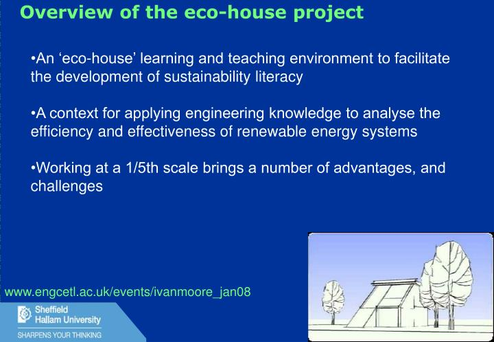 Overview of the eco-house project