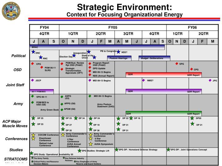 Strategic Environment: