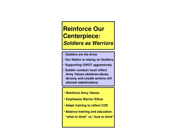 Reinforce Our Centerpiece: