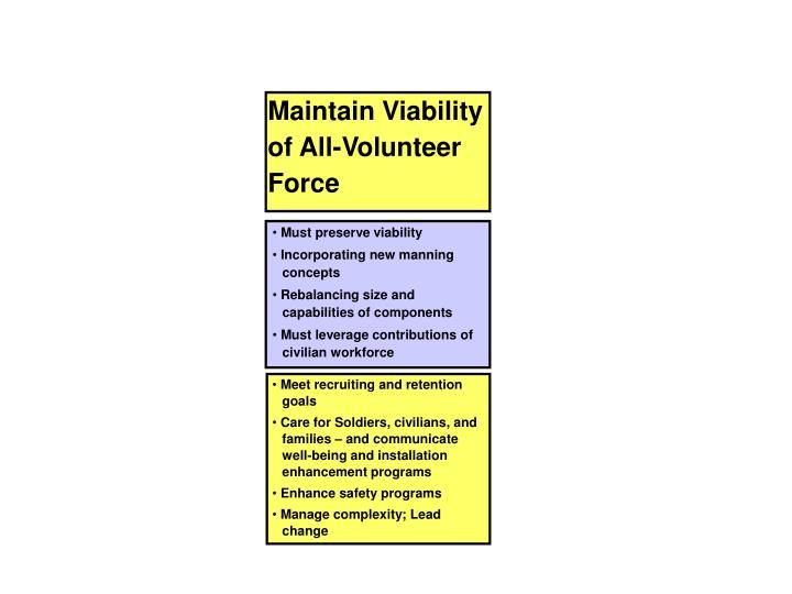 Maintain Viability