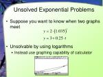 unsolved exponential problems