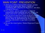 main point prevention