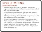 types of writing1