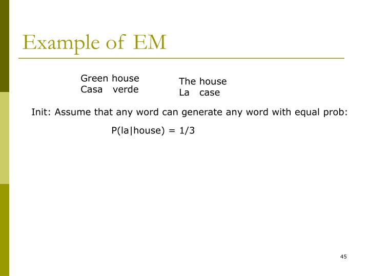 Example of EM