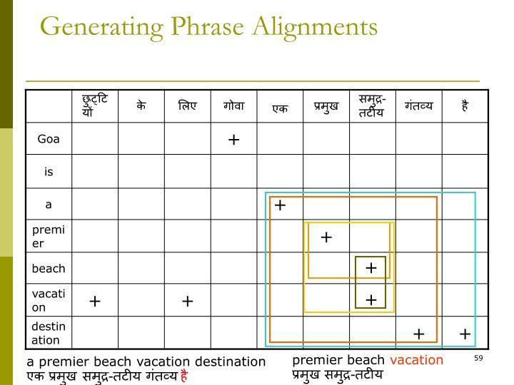 Generating Phrase Alignments